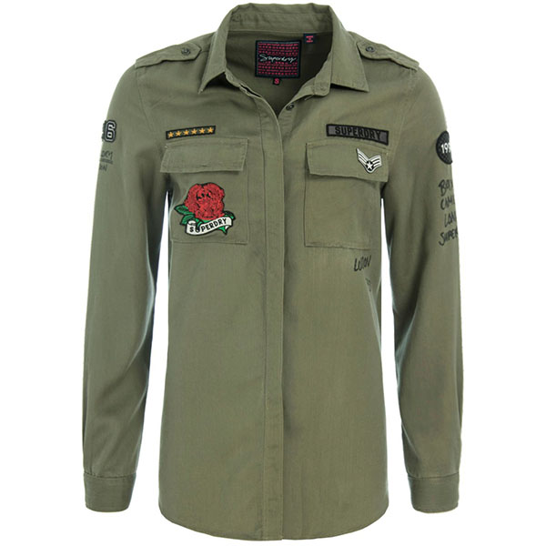 SUPERDRY LFS SUKNJA EMMA MILITARY SHIRT